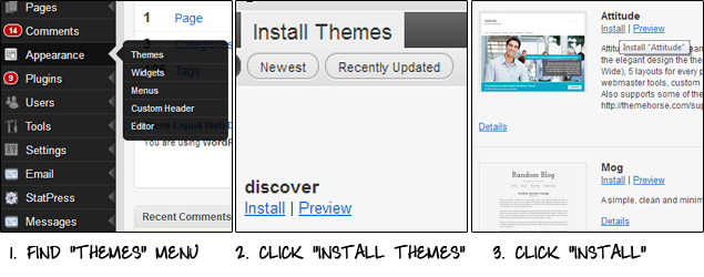 Install Themes in WordPress